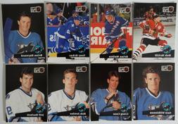 1991-92 Pro Set Series 1 San Jose Sharks Team Set of 8 Hocke