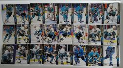 1994-95 Upper Deck UD San Jose Sharks Team Set of 24 Hockey