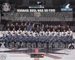 1997-98 SAN JOSE SHARKS NHL 8X10 TEAM PHOTO