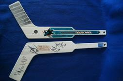 2 signed san jose sharks 19 plastic