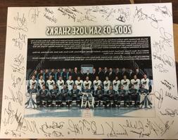 2002-03 San Jose Sharks team photo print 11x14 SEASON TICKET