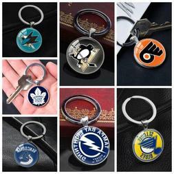 American Ice Hockey League NHL Symbol Keychain Silver Key Ri
