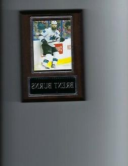 BRENT BURNS PLAQUE SAN JOSE SHARKS HOCKEY NHL