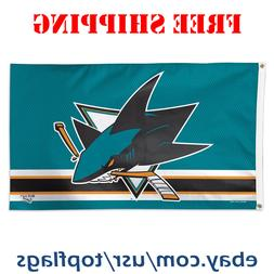 Deluxe San Jose Sharks Logo Flag Banner 3x5 ft 2019 NHL Hock