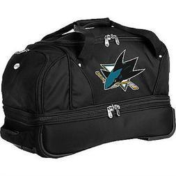 "Denco Sports NHL San Jose Sharks 22"" Small Rolling Duffle Ba"