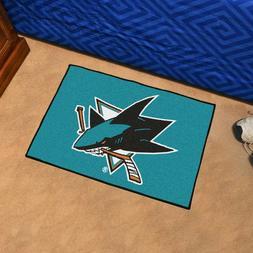 """Fan Mats San Jose Sharks Starter Mat, 20"""" x 30"""""""