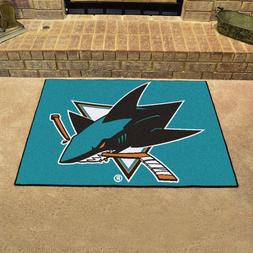 """Fan Mats San Jose Sharks All-Star Mat, 34"""" x 45"""""""