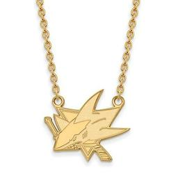 gold plated sterling silver nhl san jose