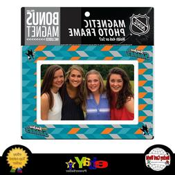 San Jose Sharks  4x6 or 5x7 Magnetic Picture Frame with Bon
