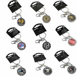 impact keychain key ring clip NHL PICK YOUR TEAM