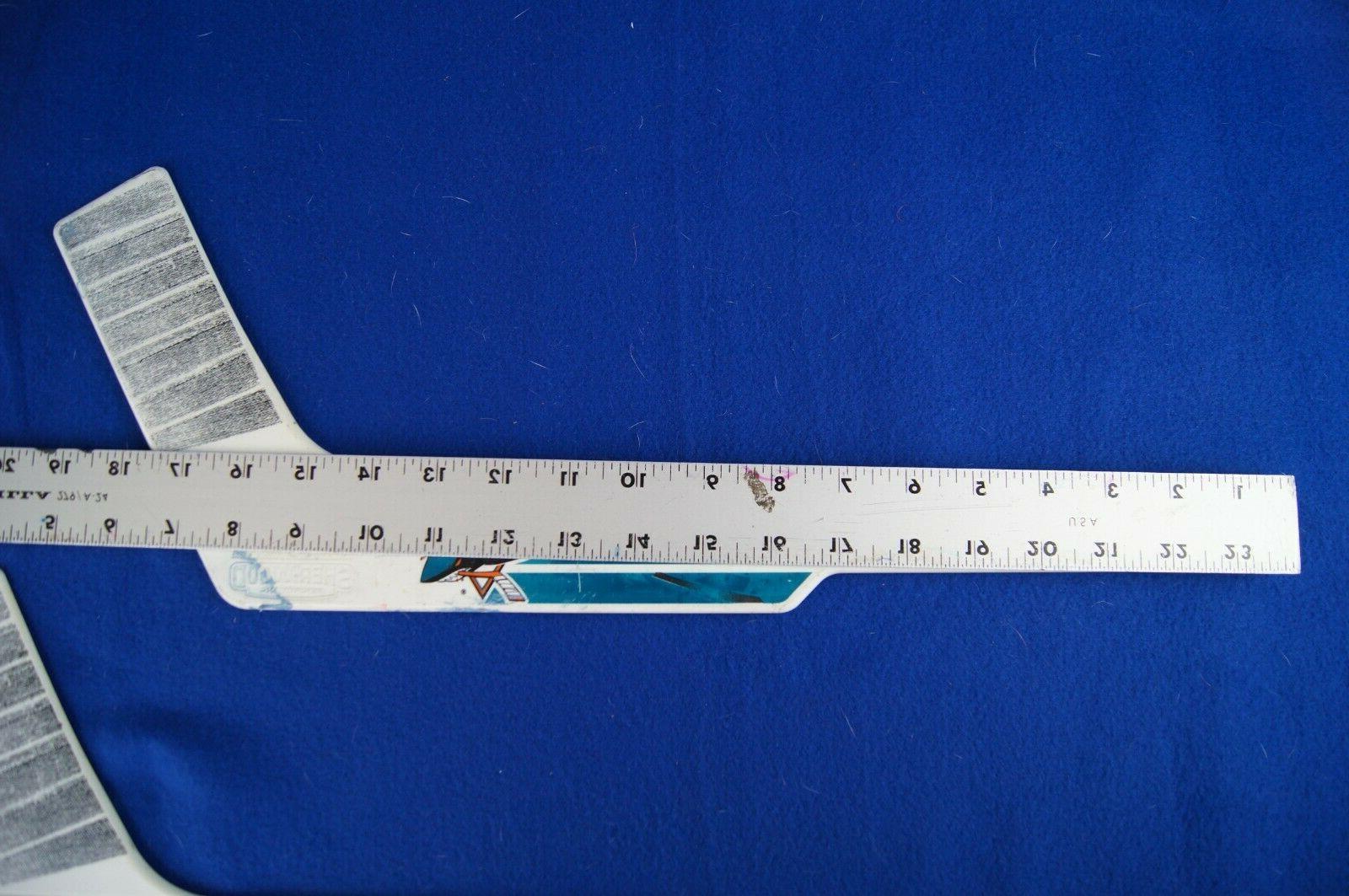 """SHARKS 19"""" PLASTIC HOCKEY USED"""