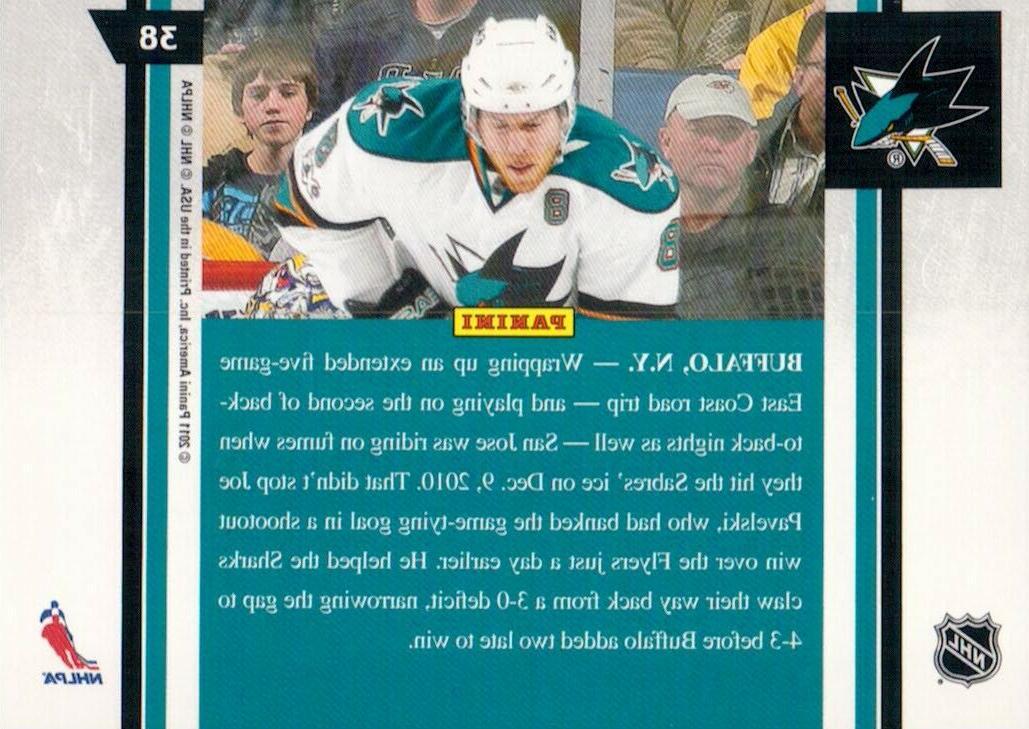 Joe Pavelski Sharks 2010-11 #38