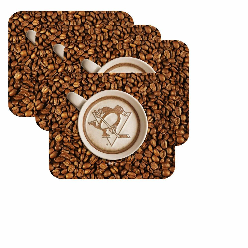 new nhl latteam coffee art 4pk coaster