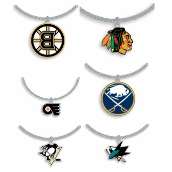 nhl necklace with pendant choose your team
