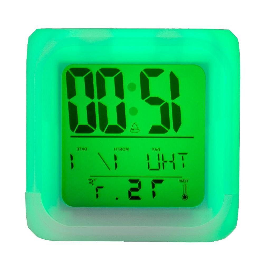 San Digital LED Clock Multi Changing