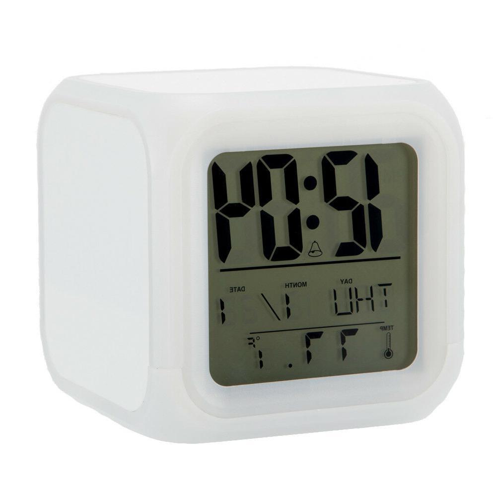 San Jose Sharks Digital LED Clock Changing Desk Decor