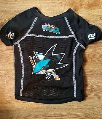 san jose sharks large pet jersey shirt