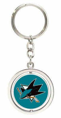 San Jose Sharks Spinning Keychain Keyring New