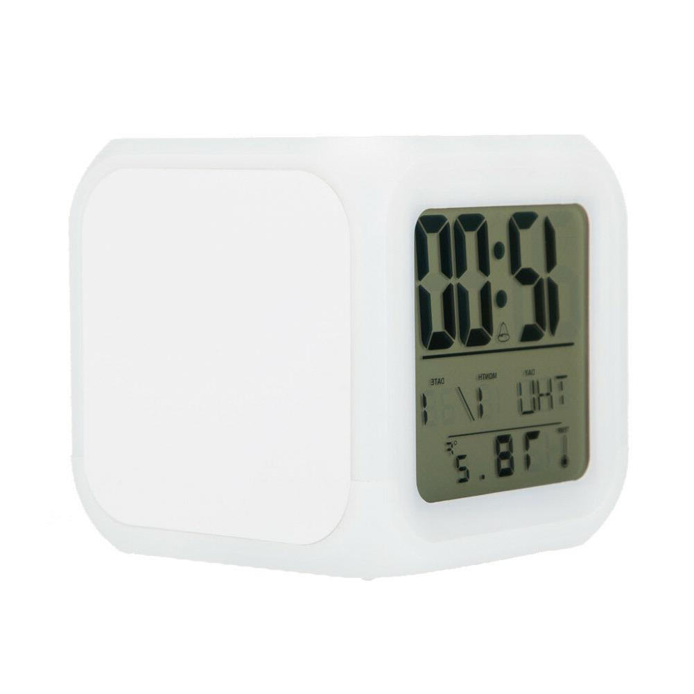 San LED Clock Color Changing Alarm Desk Decor