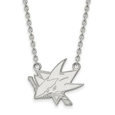 sterling silver nhl san jose sharks large