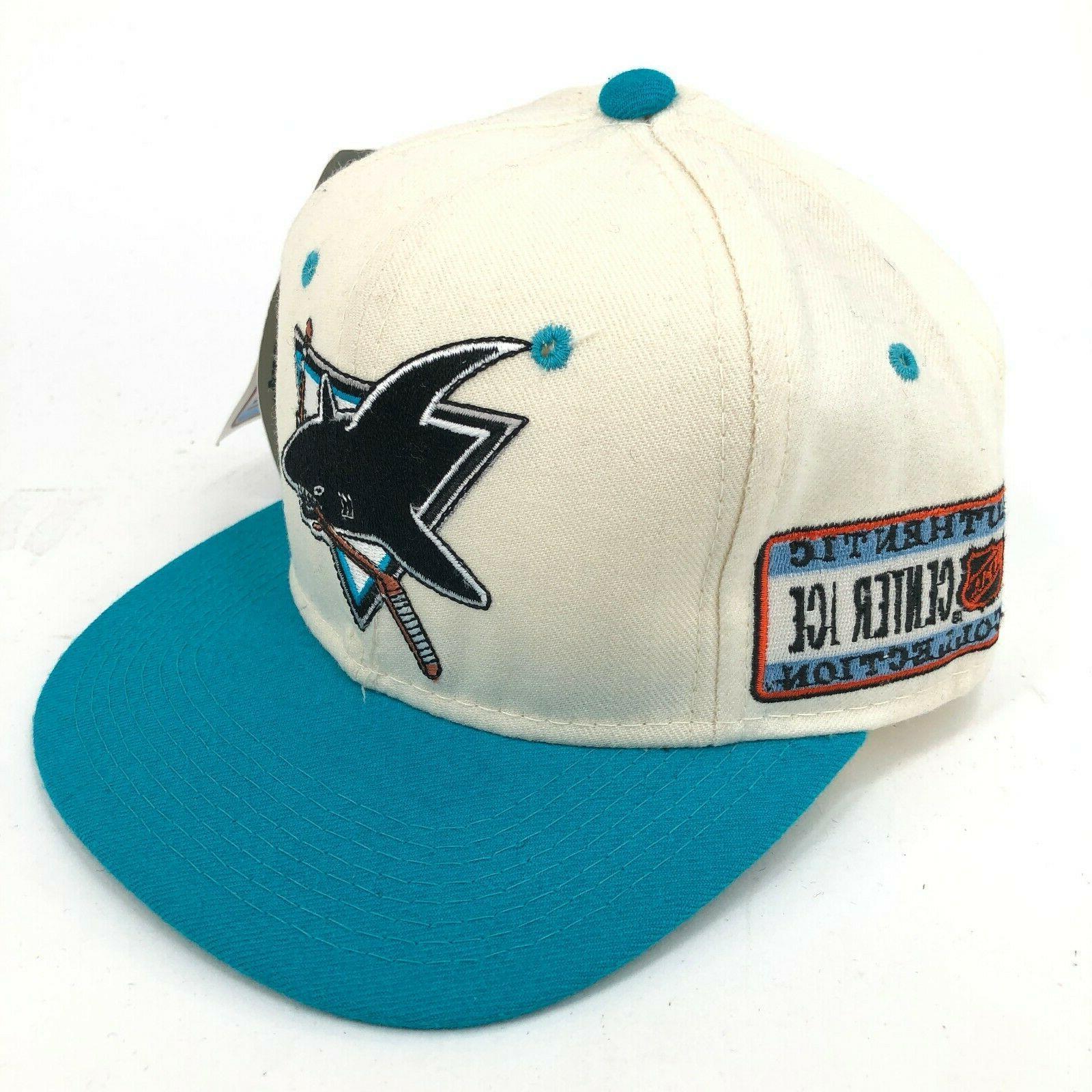 vintage san jose sharks fitted hat shark