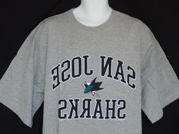 NEW San Jose Sharks NHL Hockey Short Sleeve Majestic T-Shirt