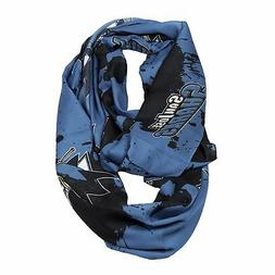 NEW SAN JOSE SHARKS PAINT SPATTER INFINITY SCARF SOFT SILKY