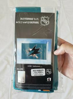 NEW Teal NHL San Jose SHARKS Hockey 3' x 5' Logo FLAG Banner