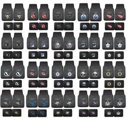 NHL Car Floor Mats 4 Pc Front & Rear HD Vinyl - Choose Your