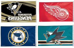 NHL Assorted Teams Wincraft 3' x 5' Flags w/D-Rings Vibrant