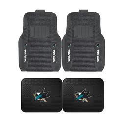 NHL San Jose Sharks 2-Pc & 4-Pc Deluxe Floor Car Truck Mat S