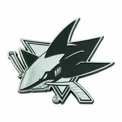 Fanmats NHL San Jose Sharks Diecast 3D Chrome Emblem Car Tru