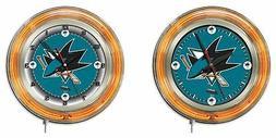 NHL - San Jose Sharks Double Neon Ring, Logo Clock Hockey Te