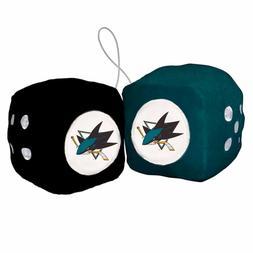 NHL San Jose Sharks Fuzzy Soft Plush Hanging Dice Home offic