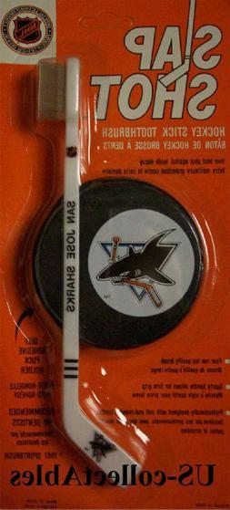 NHL San Jose Sharks Hockey Stick Toothbrush Puck Novelty Spo
