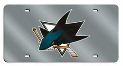 NHL San Jose Sharks Laser Cut Auto Tag, Silver