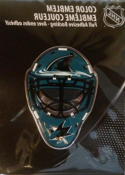 NHL San Jose Sharks Mask Emblem, Teal