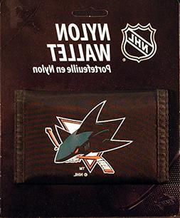 NHL San Jose Sharks Nylon Trifold Wallet