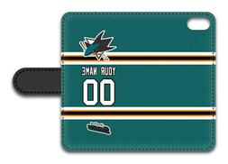 NHL San Jose Sharks Personalized Name/Number iPhone iPod Wal