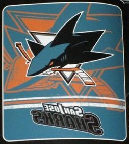 "New NHL San Jose Sharks Large Soft Fleece Throw Blanket 50"""