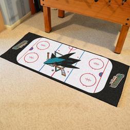 FANMATS NHL San Jose Sharks Nylon Face Football Field Runner