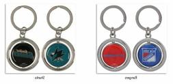 NHL Spinning Logo Key Ring Keychain Forever Collectibles Sel