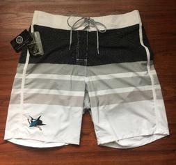 NWT Men's San Jose Sharks Hockey Swim Trunks Board Shorts-