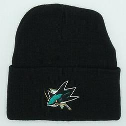 NWT NHL San Jose Sharks Adult Cuffed Winter Knit Hat Cap Bea