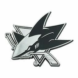 Official San Jose Sharks NHL Hockey Logo Solid Metal Car Emb