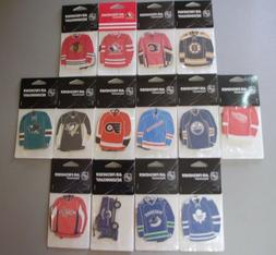 Pack of 3 NHL Jersey Air Fresheners JF Sports All Teams