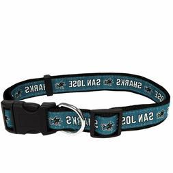 Pets First NHL Chicago San Jose Sharks Pet Collar  Adjustabl