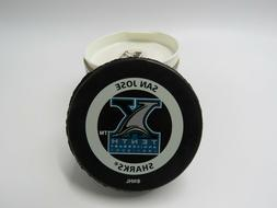 SAN JOSE SHARKS 10TH ANNIVERSARY NHL OFFICIAL GAME PUCK 1991