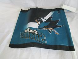 "San Jose Sharks WinCraft 11"" x 13"" NHL Two-Sided Car Flag"