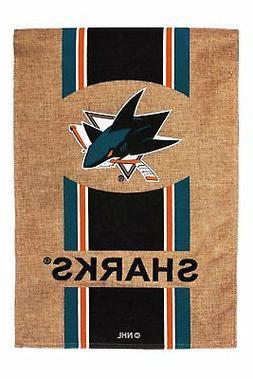 "San Jose Sharks 12 1/2"" x 18"" 2-Sided Burlap Garden Flag"